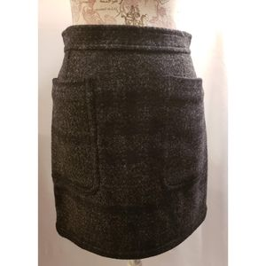Burberry Brit gray plaid wool mini skirt